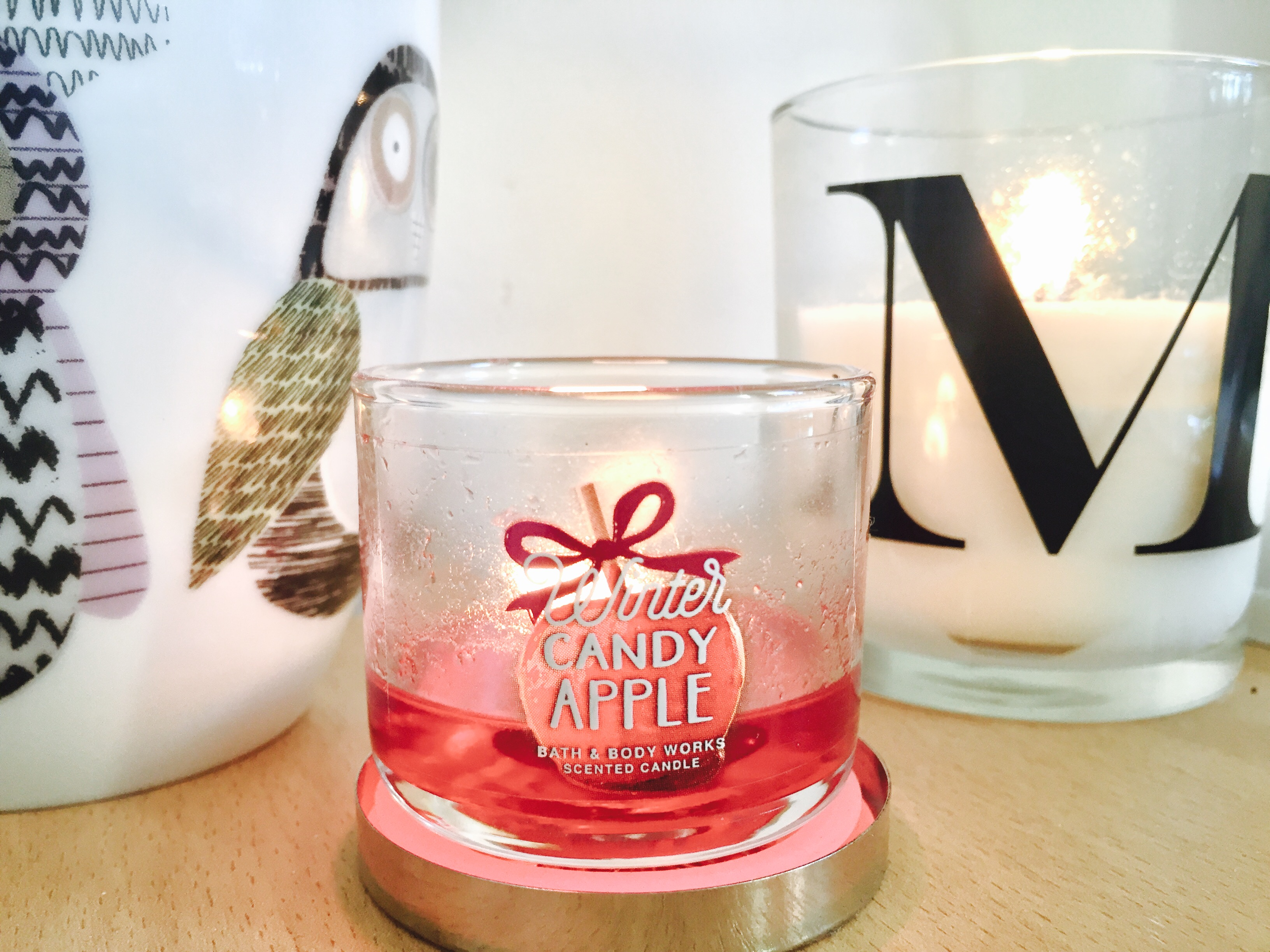 winter candy apple bath and body works candle lazy day