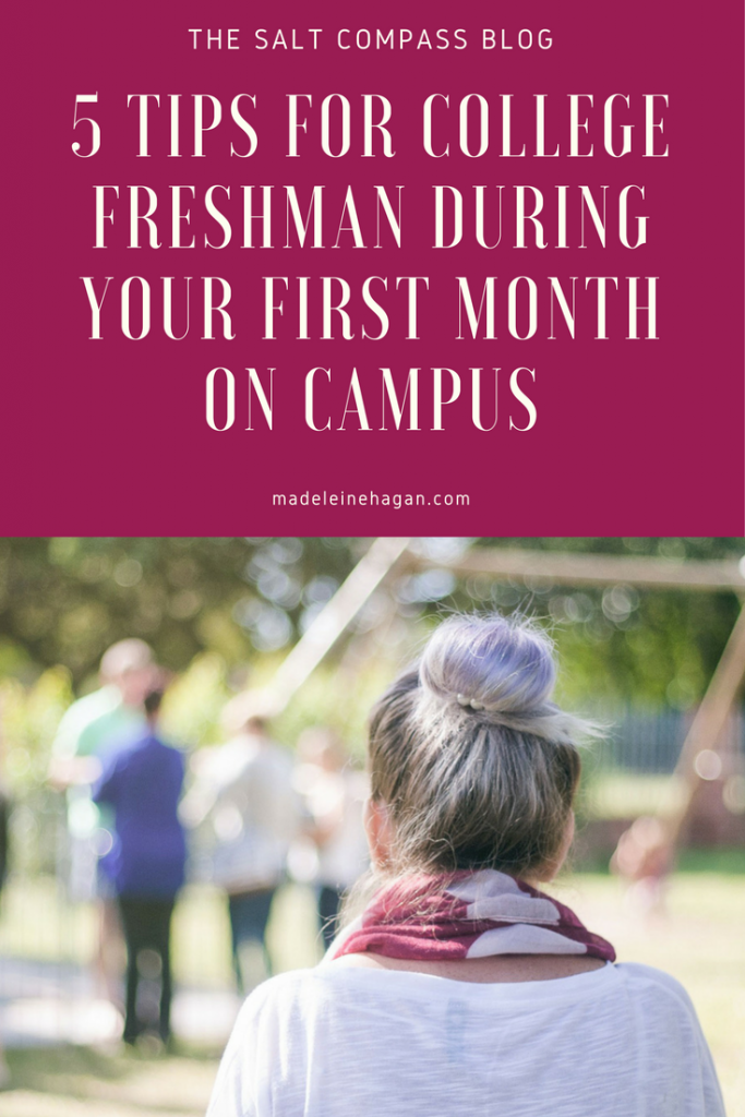 tips for college freshman first month of college
