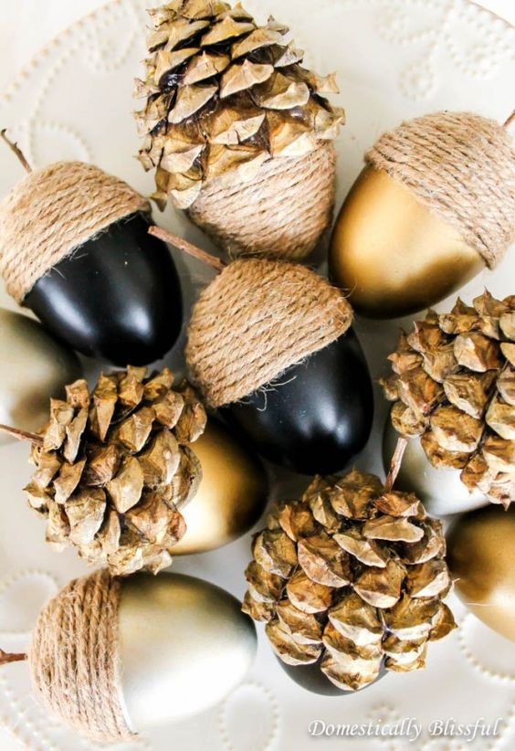 Fall Decor Ideas: Acorns