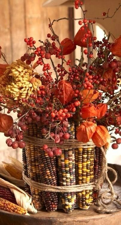 Fall Decor Ideas: Corn