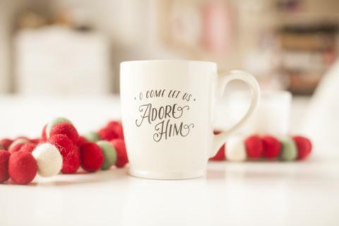 The Daily Grace Co. O Come Let Us Adore Him Mug