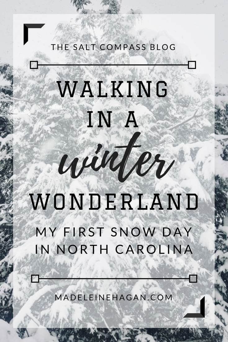 Walking in a Winter Wonderland (My First Snow Day in North Carolina)