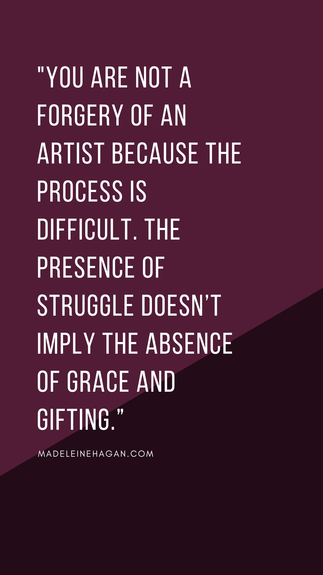 The presence of struggle doesn't imply the absence of grace and gifting.