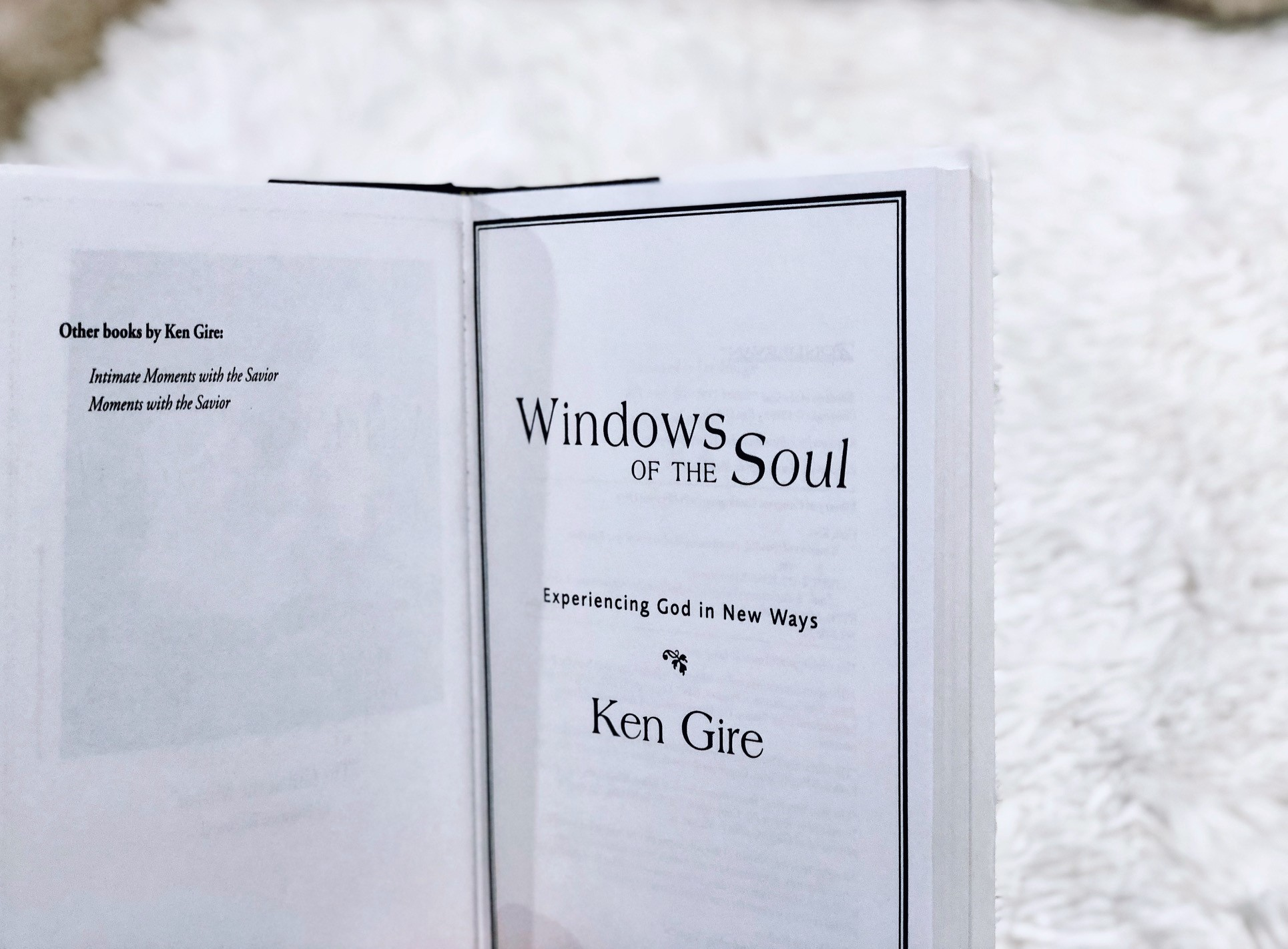 Windows of the Soul: Experiencing God in New Ways by Ken Gire