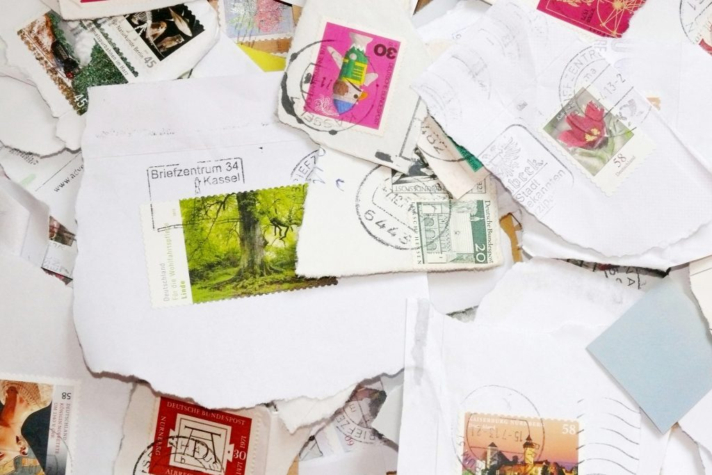 Love Letters With Postage Stamps